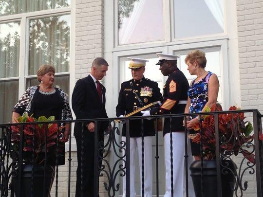 Rep. Rob Wittman, R-Va., is named an honorary Marine