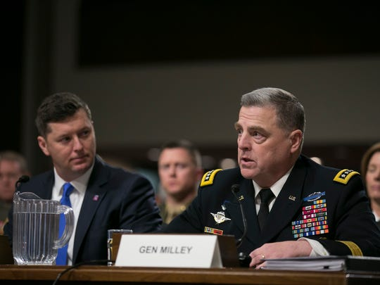 Chief of Staff of the Army Mark Milley speaks to the