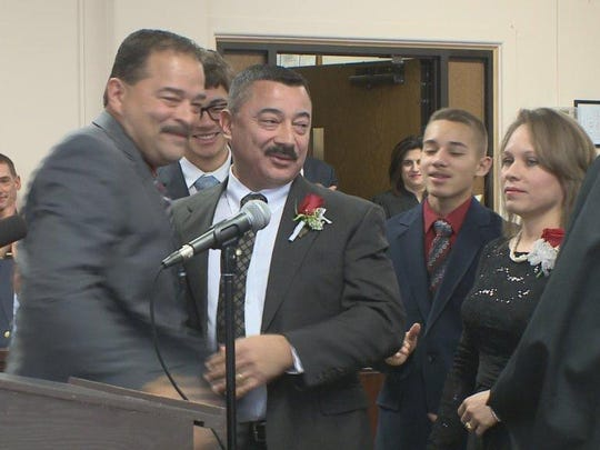 Swearing in ceremony for Dunkirk Mayor Willie Rosas