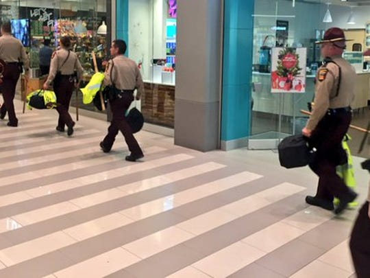 Minnesota State Troopers at the Mall of America before