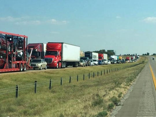 Big rig crosses median, three die in I-35 crash