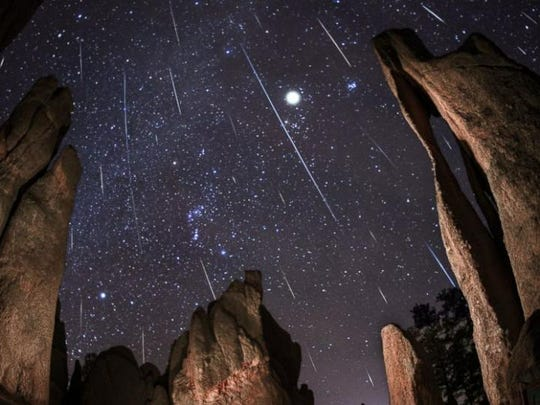 "The Geminids meteor shower, dubbed ""the King of Meteor Showers"""