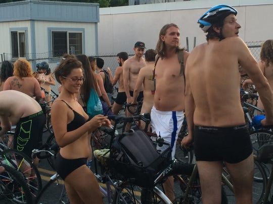 2015 Portland's World Naked Bike Ride