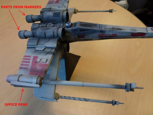 bored worker makes 39 star wars 39 models from office supplies