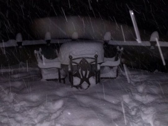 Required patio furniture snow picture