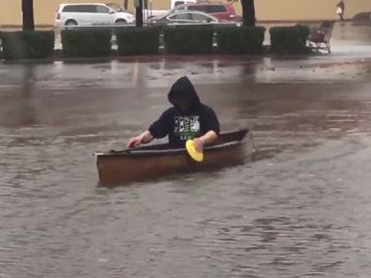 Canoeing in the McMinnville WalMart parking lot