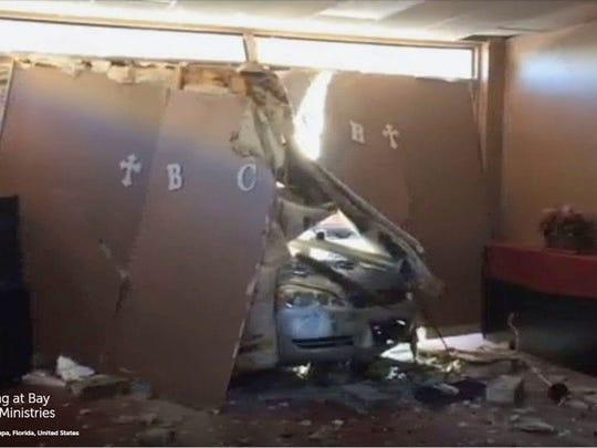 Car Crashes Into Walgreens