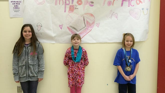 SAGES students are: Allie Smith, Graywyn Ehrike and Rena Draves.