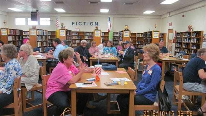 The Corpus Christi Area Retired Teachers Association heard presentations from area legislators about their efforts to increase access to teachers benefits on Saturday, Oct. 15, 2016, at the Hamlin Middle School Library.