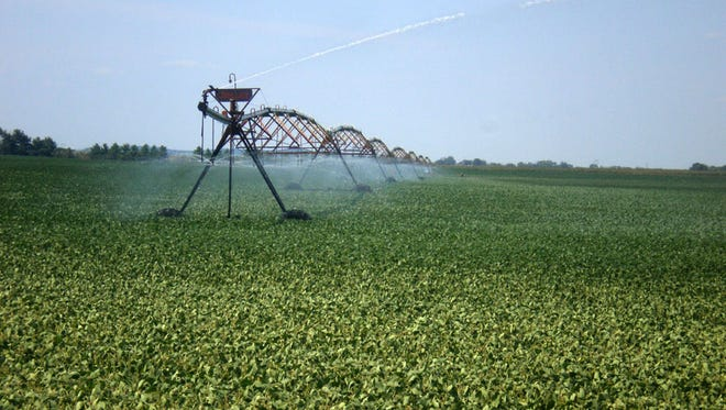 Crop farmers depend on high capacity wells to irrigate their crops.