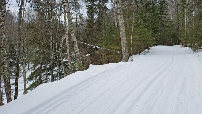 Cross-country ski conditions were very good at Pattison State Park after the area received about 10 inches of snow this week