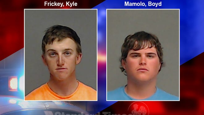 Mugshots of Kyle Frickey and Boyd Mamolo, arrested on suspicion of sexual assault. Feb. 4, 2018