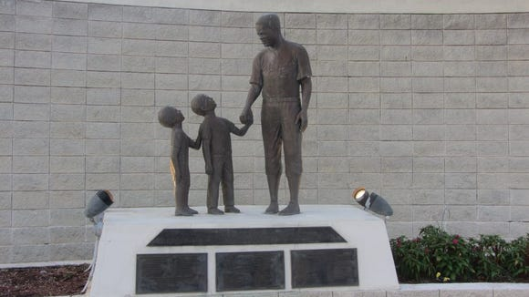 The Jackie Robinson Statue in Daytona Beach, commemorating