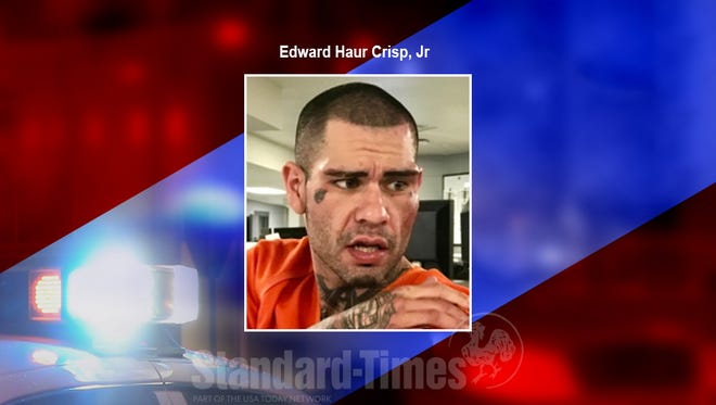 Edward Haur Crisp, Jr arrested on suspicion of both evading arrest and resisting arrest, Thursday, May 10, 2018