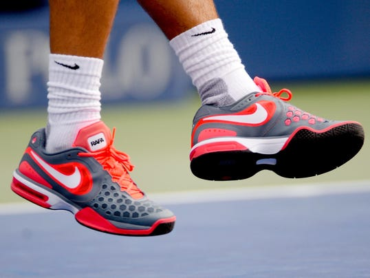 2013-08-26 us open day 1 nadal shoes nike