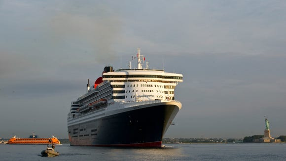 Cunard's Queen Mary 2 arrives in New York on July 14,