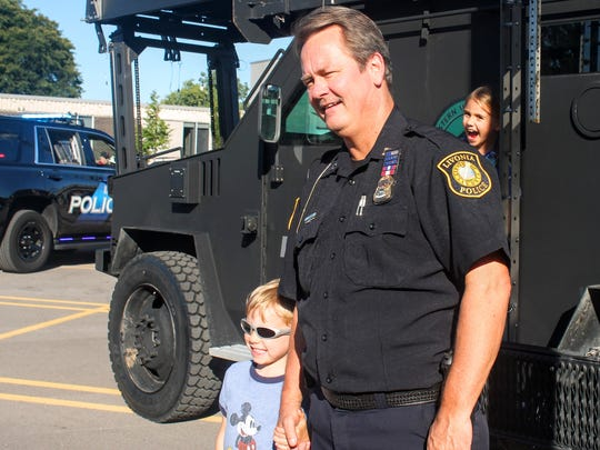 Livonia resident Billy Hendricks poses with Capt. Tom