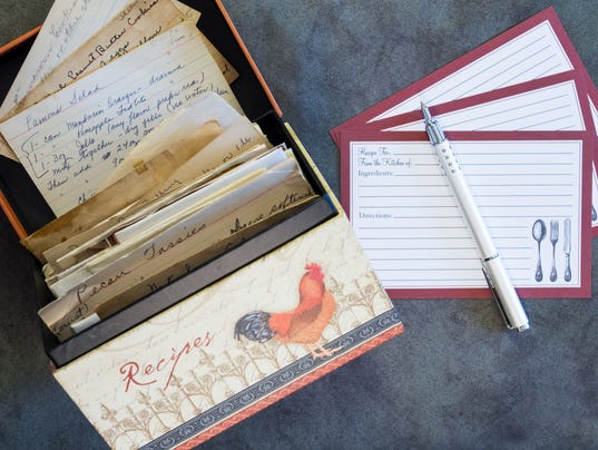 Recipe Box, Recipe Cards, Vintage Recipes