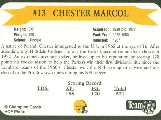 Packers Hall of Fame player Chester Marcol
