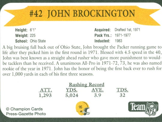 Packers Hall of Fame player John Brockington