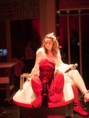 """Kyleen Shaw, bottom, and Darby Elizabeth McLaughlin star in City Theater Company's """"Lizzie."""""""