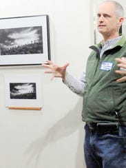 David Cushman, grand prize winner, attended to talk