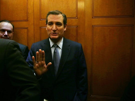 Texas Sen. Ted Cruz declines to answer a question from