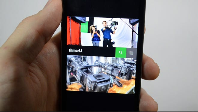 """A former NMSU Creative Media Institute student is developing a location-based networking app, called """"filmcrU,"""" that will allow like-minded filmmakers to find each other in their local communities."""