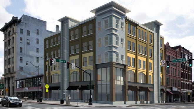 A rendering of plans for the lot at 72 Court St.