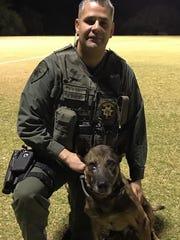 Pima County Sheriff's Deputy Rick Buelna and  his K-9