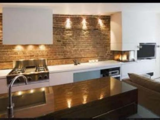 Artistic rendering of kitchen design possibility at