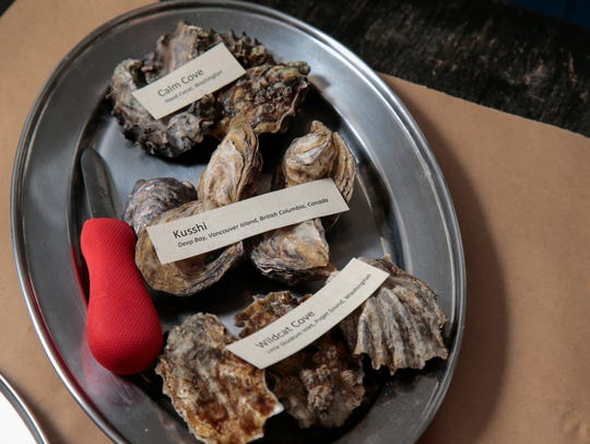 Unshucked Calm Cove, Kisshi and Wildcat cove oysters,