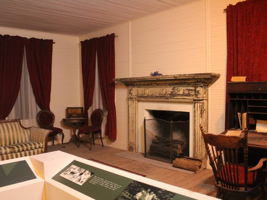 The Barksdale Global Power Museum features a re-creation of a room at Lt. Eugene Hoy Barksdale's childhood home. The namesake for Barksdale Air Force Base grew up in Goshen Springs, Mississippi, in the early 1900s.