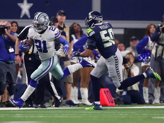 K.J. Wright Wild Card Round - Seattle Seahawks v Dallas Cowboys