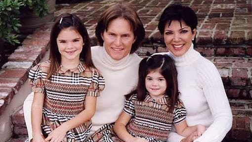 Bruce Jenner with the Kardashian family. Jenner and Kris married in 1991.
