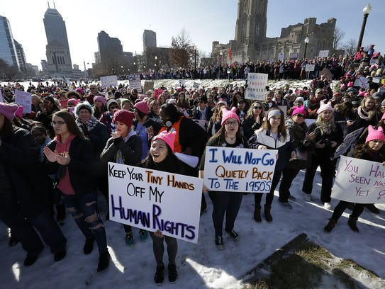 The Women's March in Indianapolis began at the American