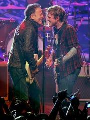 Rock and Roll legend Bruce Springsteen (left) joins