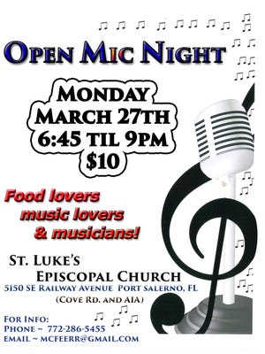 Open Mic Night at St. Luke's Episcopal Church in Port Salerno
