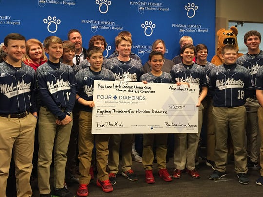 The Red Land Little League team raised more than $24,400