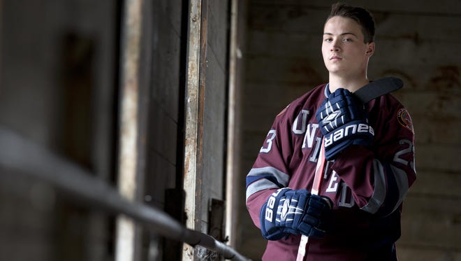 Trenton Bliss, a senior at Appleton North High School and part of the Appleton United hockey team, is the Post-Crescent boys' hockey player of the year.