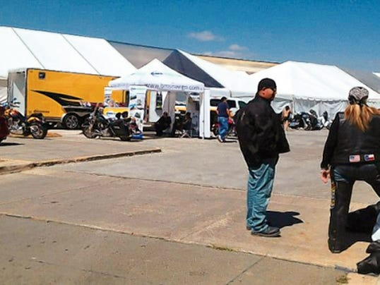 Bikers from across the country began arriving Tuesday to participate in the Golden Aspen Rally.