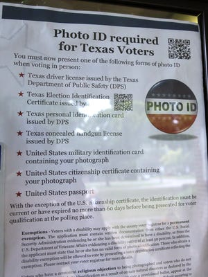 Texas' strict photo ID law went into effect in 2013 but has been struck down by three federal courts.