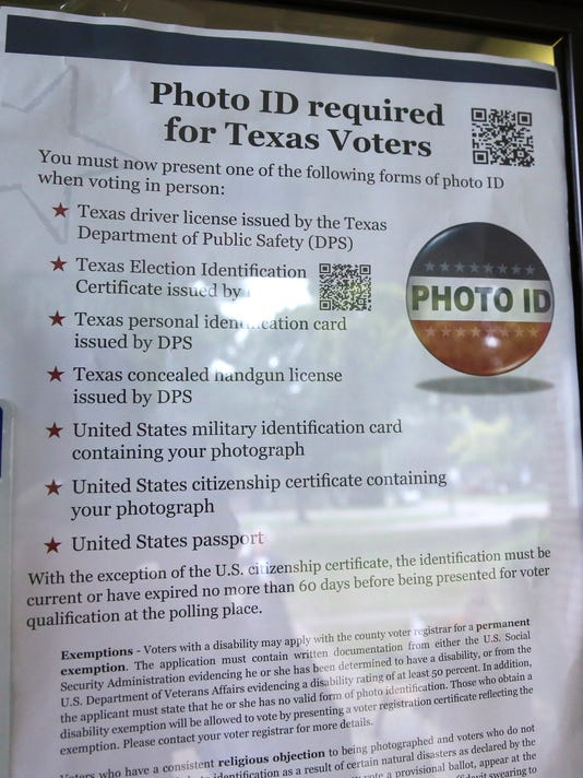 Texas voter ID law