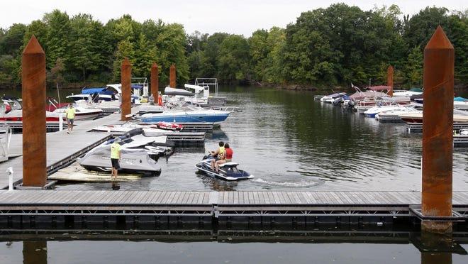 On the docks of the Alum Creek State Park marina.  [Shane Flanigan/ThisWeek]`