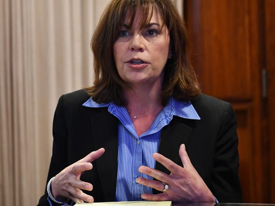 Wichita County District Attorney Maureen Shelton speaks