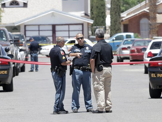 Police investigate an officer involved shooting Monday