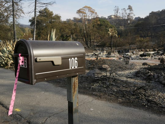 FILE - In this Oct. 16, 2017 file photo, a mailbox,