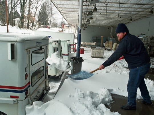 The Blizzard of '93 did indeed halt mail delivery for a time.