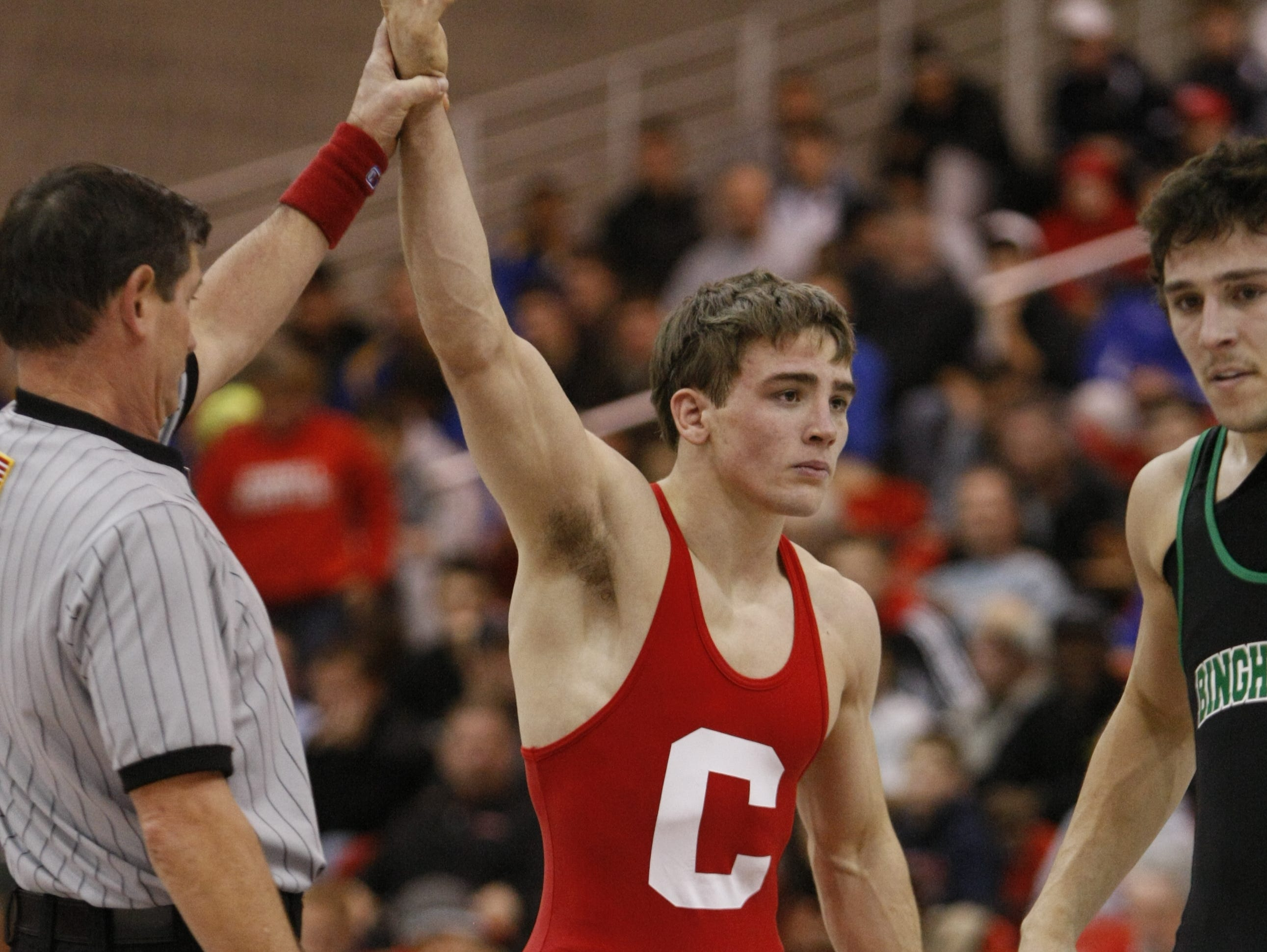 Cornell junior and Somers graduate Brian Realbuto is set to compete in the NCAA Division I wrestling championships at Madison Square Garden on March 17-19.