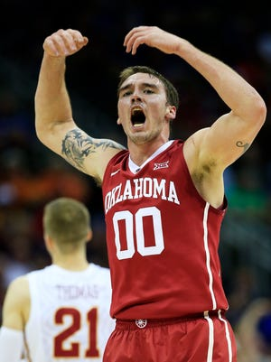 Oklahoma's Ryan Spangler averages a team-leading 8.2 rebounds.